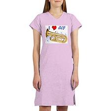 I *HEART* My Tuba Women's Pink Nightshirt