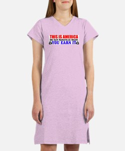 """This Is America!"" Women's Color Nightsh"
