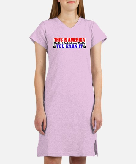 """""""This Is America!"""" Women's Color Nightsh"""