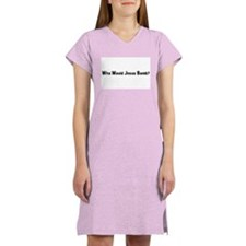 Who Would Jesus Bomb? Women's Pink Nightshirt