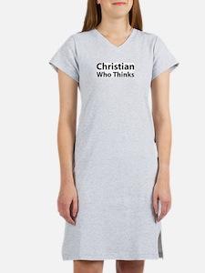 Christian Who Thinks Women's Pink Girly Nightshirt