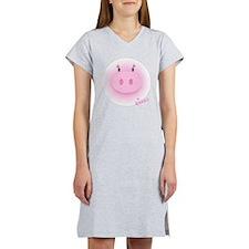 Pinky Oink Pig Women's Nightshirt