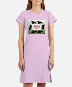 """""""The Bond with a Dog"""" Women's Nightshirt"""