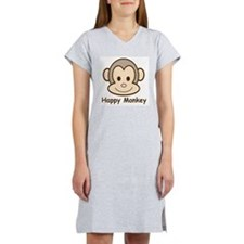 Happy Monkey Women's Pink Nightshirt