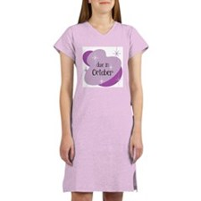 Due In October Retro Women's Nightshirt