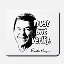 Ronald Reagan Quote Trust But Verify Mousepad