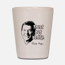 Ronald Reagan Quote Trust But Verify Shot Glass