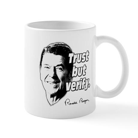 Ronald Reagan Quote Trust But Verify Mug