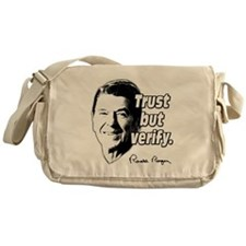 Ronald Reagan Quote Trust But Verify Messenger Bag
