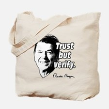 Ronald Reagan Quote Trust But Verify Tote Bag