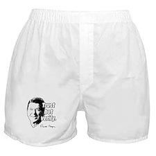 Ronald Reagan Quote Trust But Verify Boxer Shorts