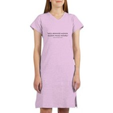 """Well-behaved women"" Women's Nightshirt"
