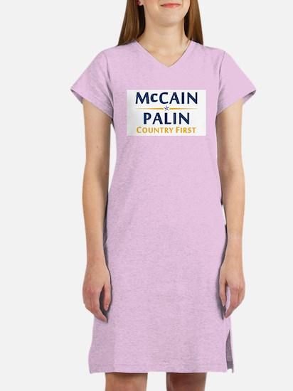 Country First - McCain Palin Women's Nightshirt