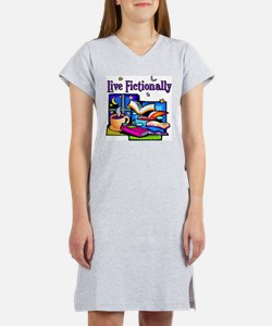 Live Fictionally Women's Pink Nightshirt