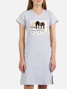 Labrador Butts with Sticks/Balls Women's Nightshir