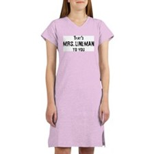 Cute Power lineman Women's Nightshirt