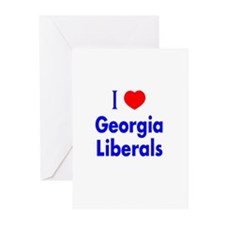 I Love Georgia Liberals Greeting Cards (Package of