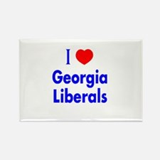I Love Georgia Liberals Rectangle Magnet