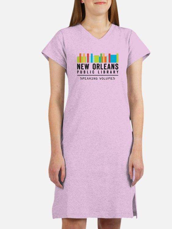 Cute Public library Women's Nightshirt