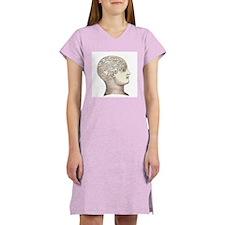 Victorian Phrenology Women's Pink Nightshirt