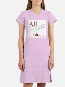 Christmas Divorce Women's Nightshirt