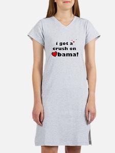 crush on obama Women's Nightshirt