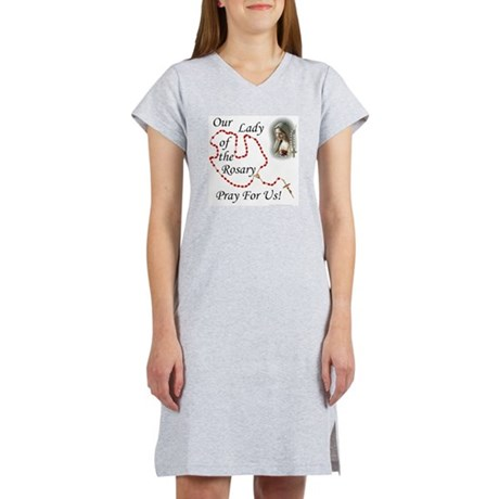 Our Lady of the Rosary Women's Nightshirt