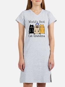 World's Best Cat Grandma Women's Nightshirt