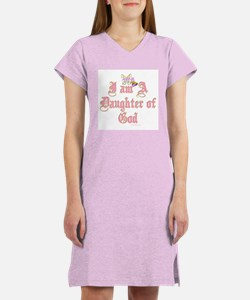 I AM A DAUGHTER OF GOD Women's Nightshirt