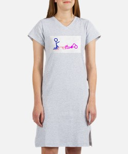 Stick figure 1 Women's Pink Nightshirt
