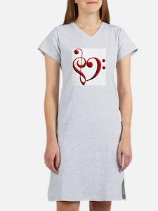 Clef Heart Women's Nightshirt