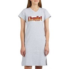 Tequila makes me easy Women's Pink Nightshirt