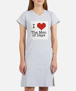 I Heart the Men of Days Women's Nightshirt