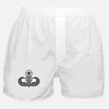 Combat Parachutist 1st awd Master B-W Boxer Shorts