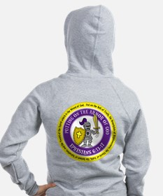 Ephesians Round Lady's Zip Hoodie (front & bac