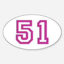 Number 51 Oval Decal