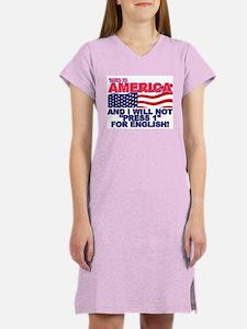 Will Not Press 1 Women's Nightshirt