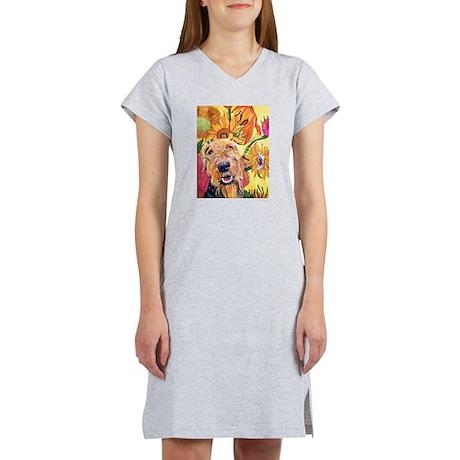 Airedale terrier dog Women's Nightshirt