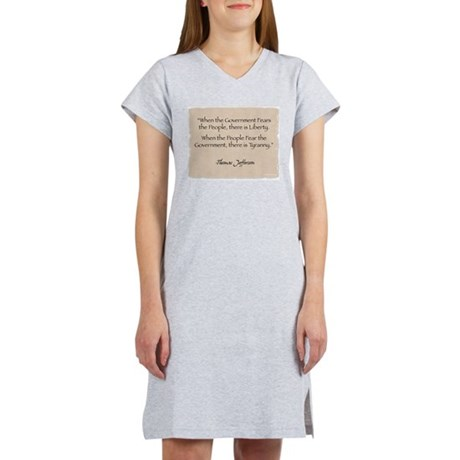 Women's Nightshirt: Jefferson Government