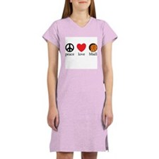 Peace Love bball Women's Nightshirt