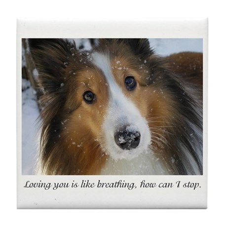 Loving you is like breathing, how can Tile Coaster