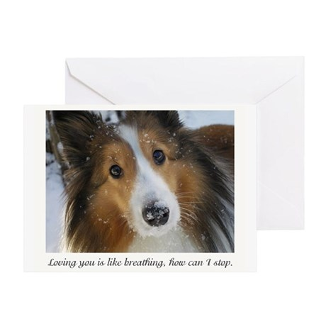 Loving you is like breathing, how ca Greeting Card