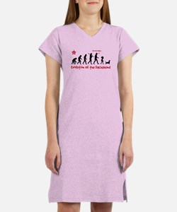 Evolution of the Dachshund! Women's Nightshirt