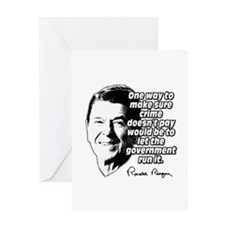Ronald Reagan Quote Crime Doesn't Pay Greeting Car