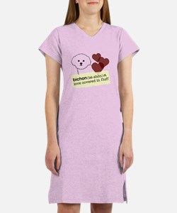 Cute Bichon frise Women's Nightshirt