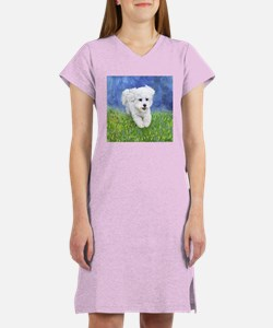 Cute Bichon Women's Nightshirt