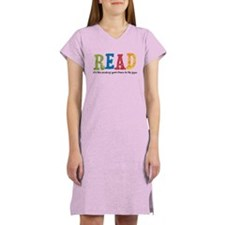 Read 3: Send your brain to th Women's Nightshirt