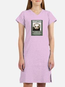 Ferret Wanted Poster Women's Nightshirt