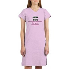 Cute Sexually deprived for your freedom military wife Women's Nightshirt