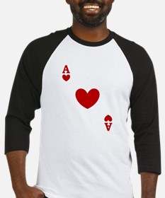 Ace of hearts card player Baseball Jersey